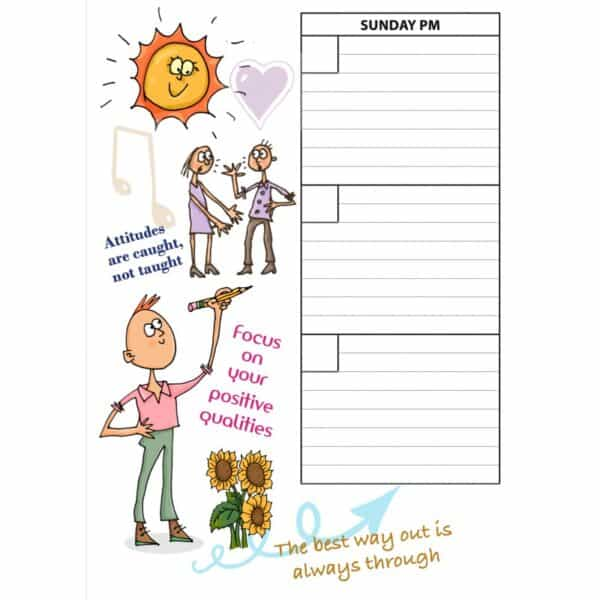 Weekly Planner Teen Diary Theme