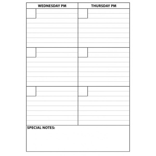 Weekly Planner Get Up and Go